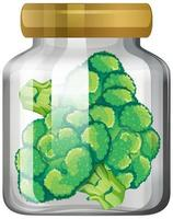 Brokkoli im Glas vektor