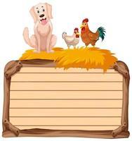 leeres Banner mit Tierfarm auf weißem Hintergrund