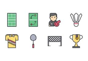 Kostenlose Badminton Icons vektor
