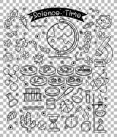 Wissenschaftselement im Gekritzel- oder Skizzenstil lokalisiert auf transparentem Hintergrund