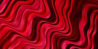rote Schablone mit gekrümmten Linien.