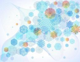 Schneeflocken auf blauem abstraktem Hintergrund vektor
