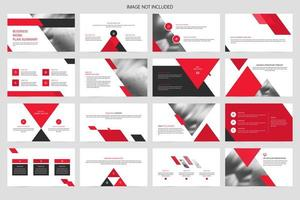 Unternehmen minimalistische Folienpräsentation vektor