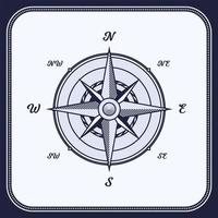 vintage kompass, vindros vektor