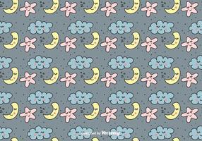 Süße Träume Vektor Muster
