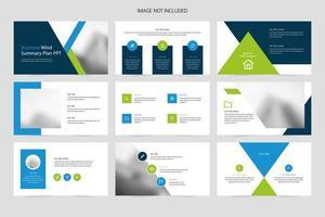 PowerPoint-Vorlage für Geschäftspräsentationen vektor