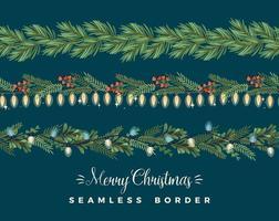 Frohe Weihnachtsgirlanden vektor