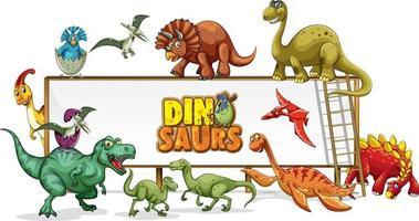 dinosaurier seriefigur i natur scen