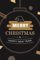 Frohe Weihnachten und Frohes Neues Jahr Ornament vektor