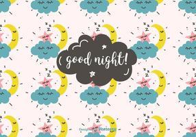 God natt vektor mönster