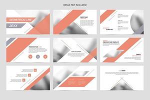 presentationer för geometri affärsföretag vektor