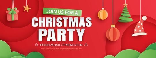 Frohe Weihnachten Party Einladungskarte