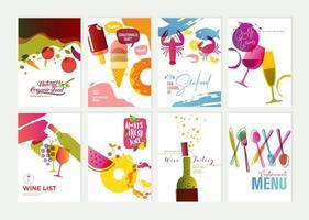 Satz von Restaurant Flyer Design-Vorlagen vektor