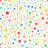 vanliga geometriska former sömlösa mönster