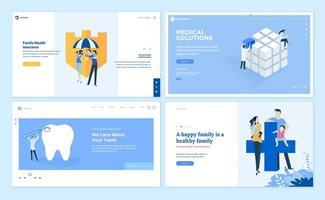 Designvorlagen für Webseiten im Bereich Medizin und Gesundheitswesen