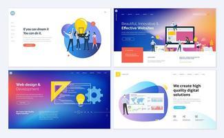 Satz von Webseiten-Designvorlagen