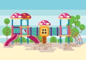 Bunter Spielplatz oder Dschungel Gym für Kinder vektor