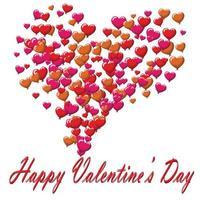 Alla hjärtans dag vykort ballonger på vit bakgrund vektor