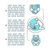 i rumssidan för barnpassning vektor