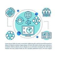 företagspolicy koncept linjär illustration vektor
