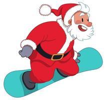 jultomten på snowboard