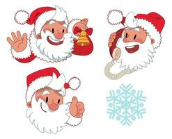 tre uttryck av jultomten karaktär