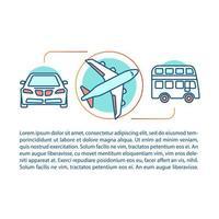 kollektivtrafik koncept vektor