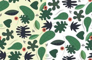 sömlöst grönt mönster vektor