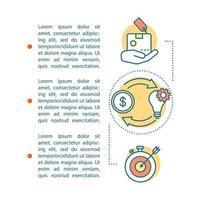 Geschäftsidee Artikelseite vektor