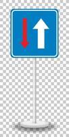 Vorrang vor entgegenkommenden Fahrzeugen Zeichen mit Stand isoliert auf transparentem Hintergrund