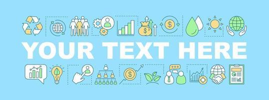 resurser ord koncept banner vektor