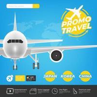 Reiseförderungsvorlage für die Online-Buchung vektor