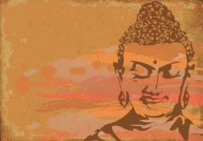 Skiss av buddha vektor