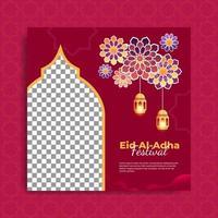 Satz islamische Festivalfahnenschablone