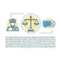 brottsbekämpning koncept vektor