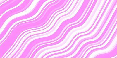 rosa Schablone mit gekrümmten Linien.