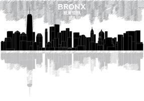 Bronx skyline silhouette