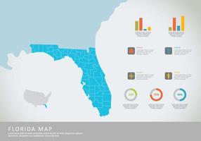 Gratis Florida Map Illustration vektor