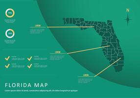 Free Florida Karte mit grünem Hintergrund