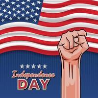 självständighetsdagen 4 juli vektor