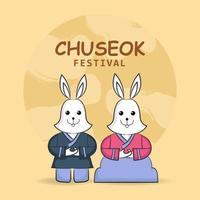 Chuseok Festivalfeier vektor