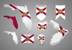 Florida Karta vektorer