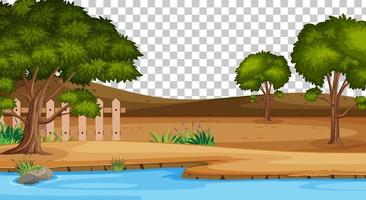 leere Naturpark-Szenenlandschaft auf transparentem Hintergrund