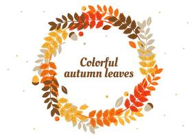 Free Herbst Blätter Vektor Hintergrund