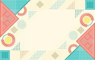 bunte abstrakte flache geometrische Formenkomposition vektor