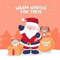 Santa Paws retten Tier durch Adoption vektor