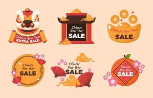 Verkauf zum Thema des chinesischen Neujahrsfestivals vektor