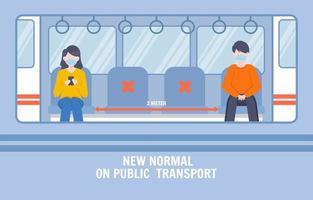 kör ett tågprotokoll under pandemin vektor