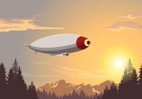 Luftschiff-lenkbare Vektor-Szene vektor
