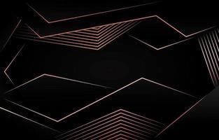 Abstarct polygonalen dunklen Hintergrund mit Roségold Schatten vektor